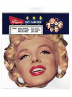 Hollywood Masks (Audrey Hepburn, Steve McQueen, Marilyn Monroe, James Dean, Elvis, Humphrey Bogart)