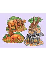 Safari Animal Cut Outs (4/pkg)
