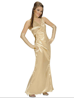 Satin Celebrity Gold (Dress Gloves)