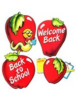 School Days Apple Cut Outs (4/pkg)