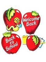 School Days Apple Cut Outs (4/pkg)