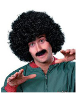 Scouser Set Black Wig And Tash (1)