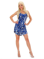 Sequin Dress - Blue/Silver
