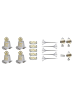 Silver New Year Party Kit 10 Person