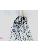 Silver Pom Poms- sold in pairs - Metallic