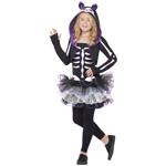 Skelly Cat Costume Black