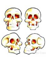 Skull Cutouts(4/pkg)