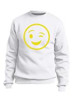 Custom Smiley Wink Face Design Sweatshirt/Hoodie
