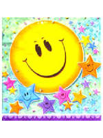 Smiley Stars Party Napkins 16 three-ply