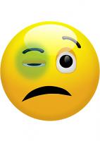 Black Eye Emoji Mask