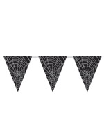 "Spider Web Pennant Banner 11"" x 12'"
