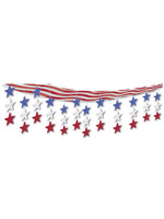 "Stars & Stripes Ceiling Decor 12"" x 12'"