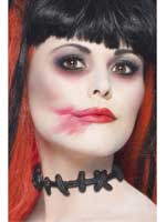Stitched Up Choker,Black