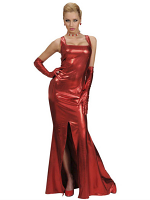 Stretch Cocktail Dress Red (Dress Gloves)