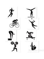 Summer Sports Cutouts