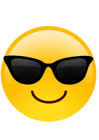 Smiley Sunglass Emoji Mask