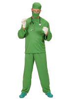 Surgeon Costume (Coat Pants Cap Face Mask)