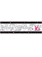 Sweet 16 Sparkle Banner Metallic