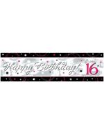 Sweet 16 Sparkle Banner Metallic