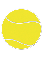 Tennis Ball Cutout 10""