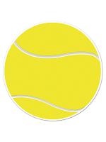 """Tennis Ball Cutout 10"""""""