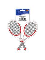 "Tennis Racquets Peel 'N Place 5¼"""