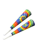 Tie-Dyed Party Horns - 10