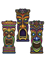 Tiki Cardboard Cutout Decoration - Height 22""