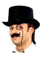 Top Hat Topper,Black Felt,Adult Size