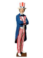 USA American 'Uncle Sam' Cardboard Cutout