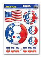 USA Peel 'n' Place Removable Stickers