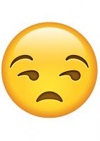 Unamused Emoji Mask