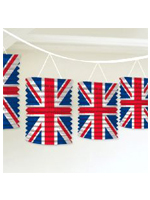 Union Jack Paper Lantern Garland Decoration
