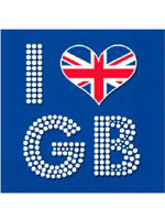 Union Jack I Love GB Napkins - 16 per pack