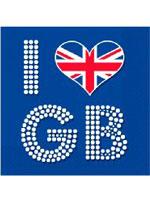 Union Jack I Love GB Napkins - 16 per pack