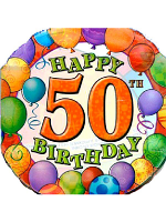 50th Birthday Foil Balloon with Balloon Border
