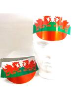 Wales Cardboard Peak Cap - 5 per pack