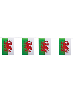 Wales Flag Bunting Rectangular Flags