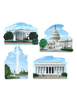 Washington DC Cutouts (4/pkg)