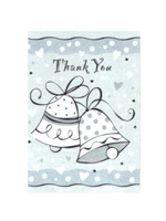 Wedding Bells Party Thank You Notes.