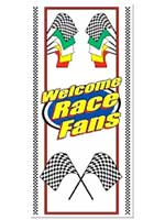 Welcome Race Fans Door Cover