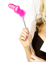 Willy Light Stick With Fuschia Marabou