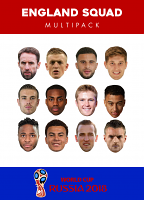 World Cup 2018 England Team Masks 12 pack