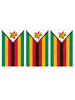 Zimbabwe Flag Bunting Rectangular Flags