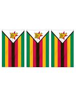 Zimbabwe Flag Bunting Rectangular Flags