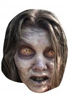 Zombie Woman Walking Dead - Cardboard Mask