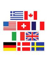 Mini International Flag Cutouts