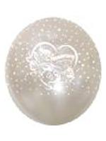 "Balloons 'HAPPY ANNIVERSARY' White 12"" Bag Of 25"