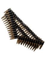 Bullet Belt, Gold, 96 Bullets, 150 Cm Long
