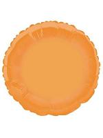 Foil Balloon Round Solid Metallic Orange